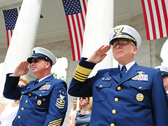 Adm Papp and MCPOCG Leavitt attend Memorial Day services - 1