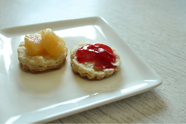 quince & red currant on scones