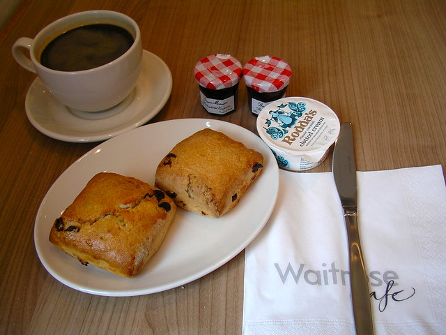 Waitrose shopping trip - cream tea