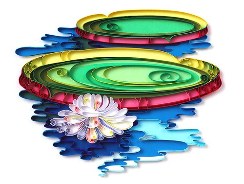 quilled lily pad
