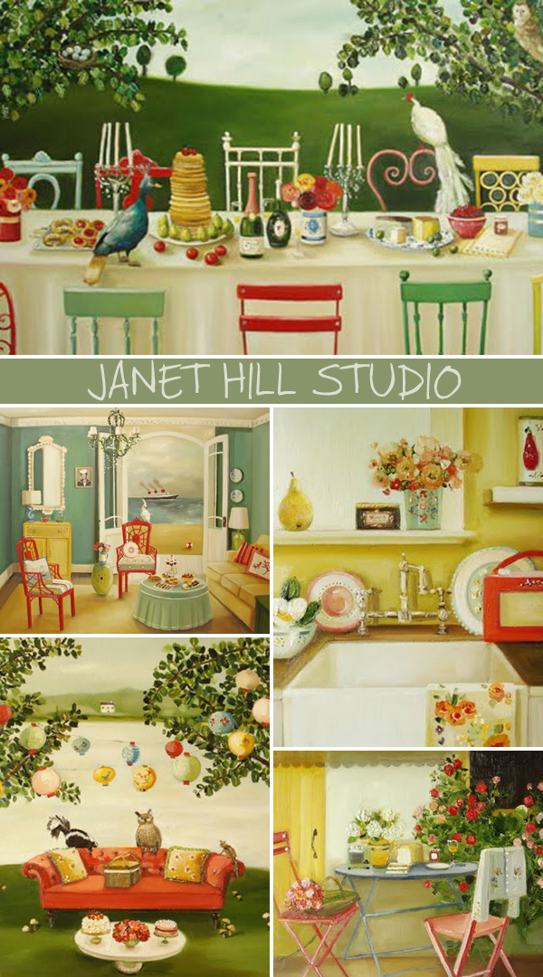 Stunning artwork by Janet Hill Studio | Emma Lamb