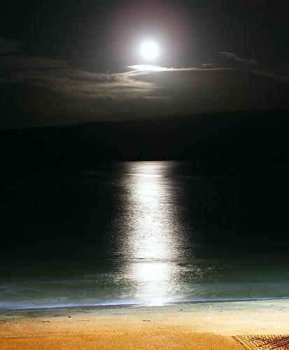 Moonlight at the slip by Calum Hall Tobermory