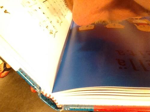 Tässä tuoreessa kirjassa oli poikkeuksellisen mielenkiintoinen tuoksu, musteista ja liimoista. Kollegani Anni sanoi että tuo mieleen ala-asteen maantiedon kirjan