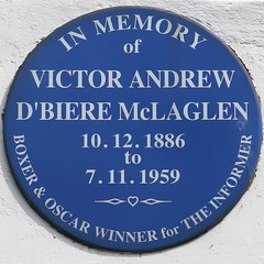 Photo of Victor Andrew D'Biere McLaglen blue plaque