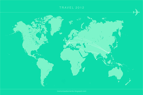 travelmap 2012