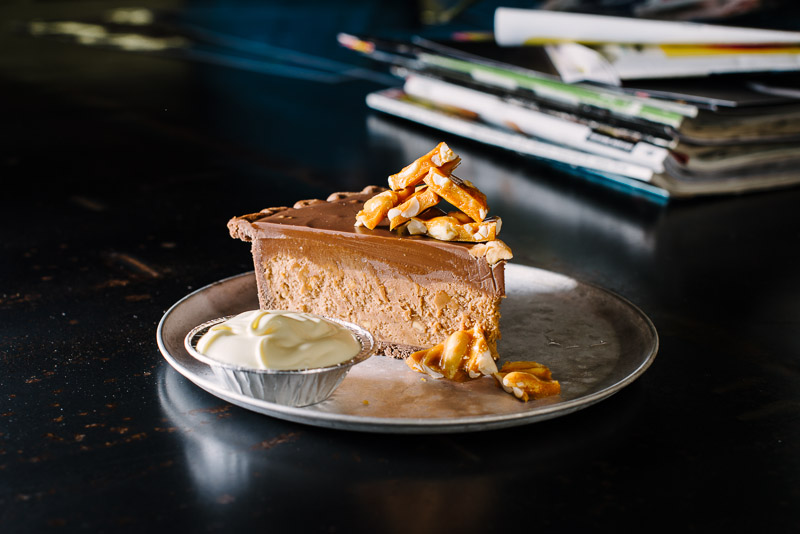 The Pie Tin - Peanut butter and chocolate tart