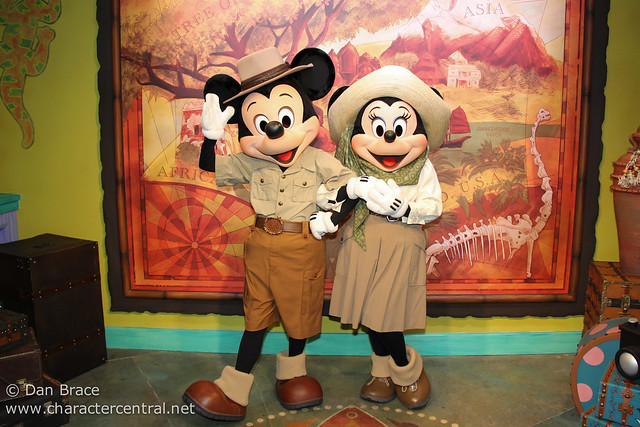 Meeting Mickey and Minnie