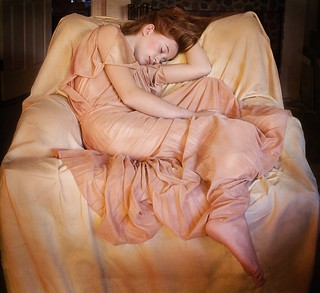 "My hommage to ""Flaming June"""