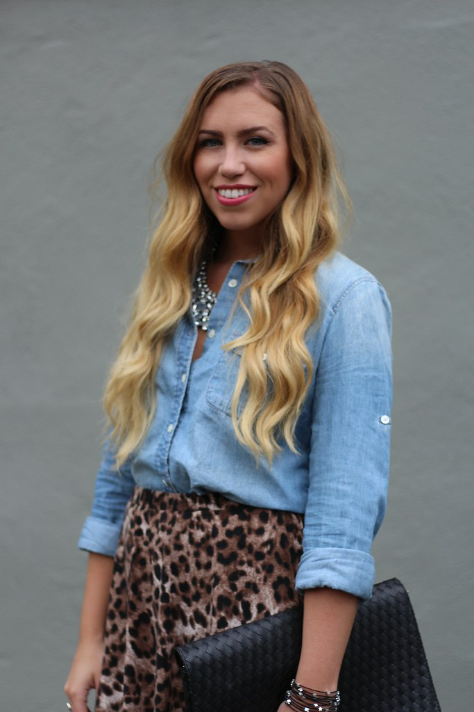 Living After Midnite: Chambray & Leopard   a Bracelet Giveaway