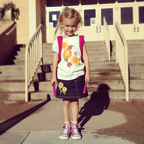 Just a few tears were shed. (By us, not her) #firstday of Kindergarten by dhgatsby