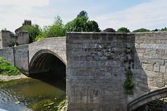 Vieux pont (XIVe siècle), Warkworth, comté de Northumberland, Angleterre, Royaume-Uni.