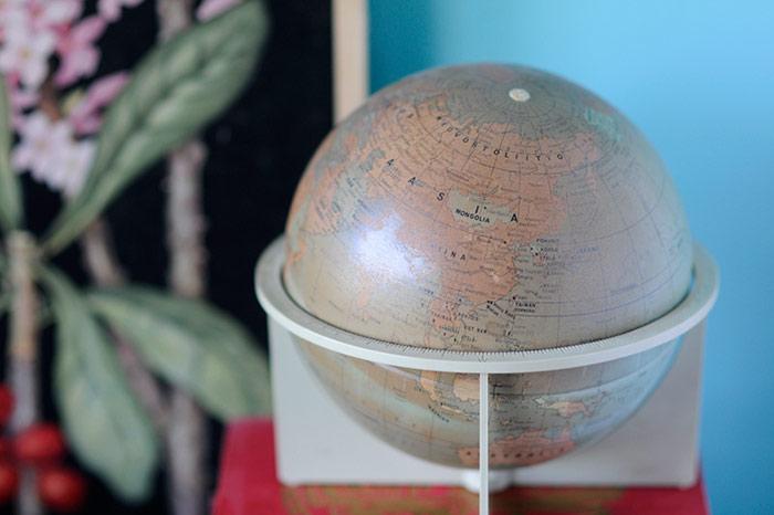 Flea Market Finds - Vintage Globe