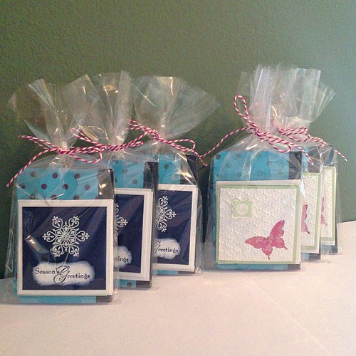 My part of the pastors wives gift baskets finished! (I'll try to get pics of the finished baskets tonight) #stampinup