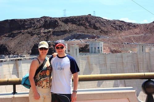 Posing at Hoover Dam