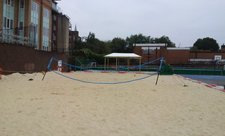 Marlborough playground beach volleyball