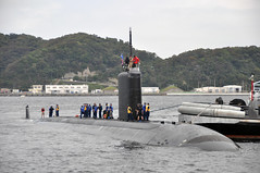 USS Hampton (SSN 767) arrives at Fleet Activities Yokosuka, Sept. 24. (U.S. Navy photo by Mass Communication Specialist 2nd Class (EXW) Sebastian McCormack)