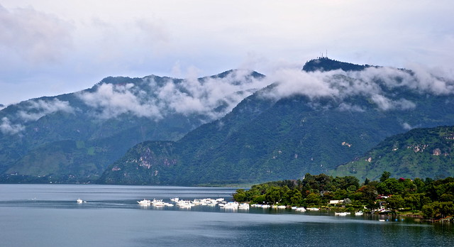 Cloudy Lake Views from Balam Ya, Luxury Villas, Lake Atitlan, Guatemala