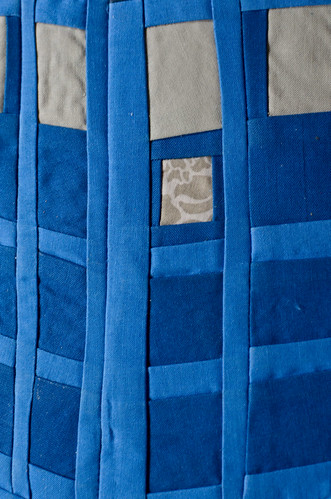 Dr. Who TARDIS Quilt Close Up