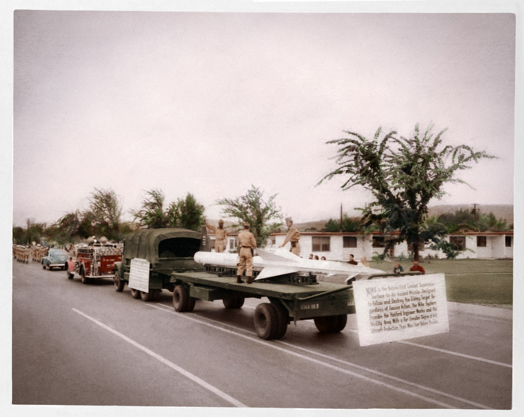 Tinted Photo of 1955 Fire Prevention Parade, Richland Washington