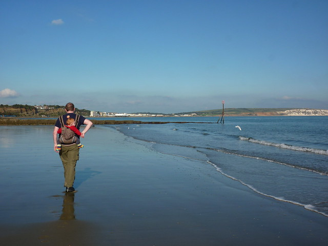 Walking on Shanklin beach