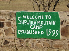 Students toured the Shewula Village in Swaziland to learn about the local way of life.
