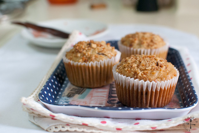 Raisin-Oatmeal-Peanut Muffins with Peanut Butter Swirl