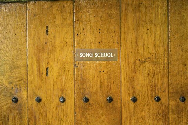 Song School sign