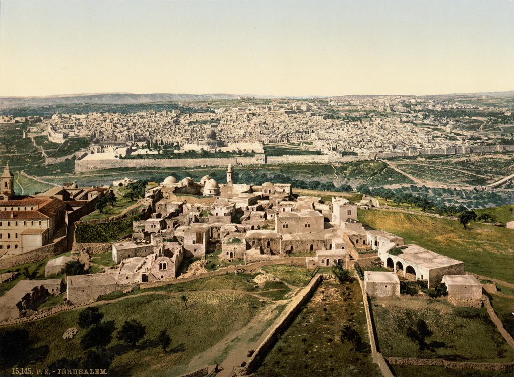 6. Vista de jerusalén, hacia 1895. Autor, Trialsanderrors