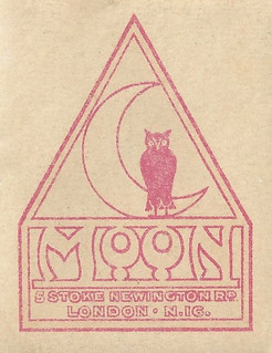 Moon Cycle Co., 5 Stoke Newington Rd., London N.16. Bicycle head-tube, or seat-tube transfer, c.1920s.