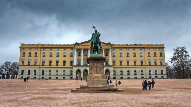 0372 - Norway, Oslo, Royal Palace HDR