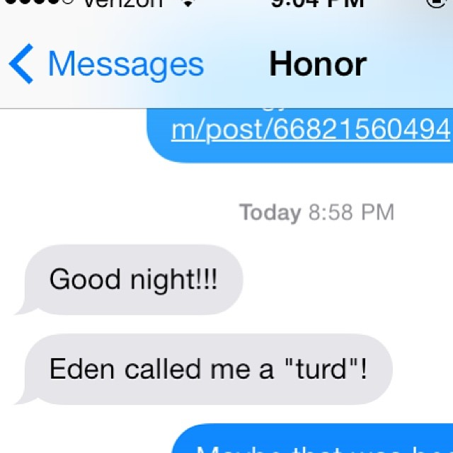 Parenting in the modern world.  Aka, texts from the next room. (Also, correct punctuation.)