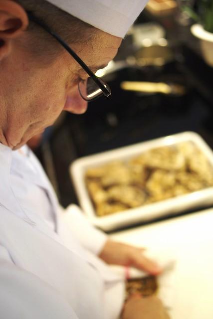 Le chef Philippe a l'ecole de cuisine Lyon