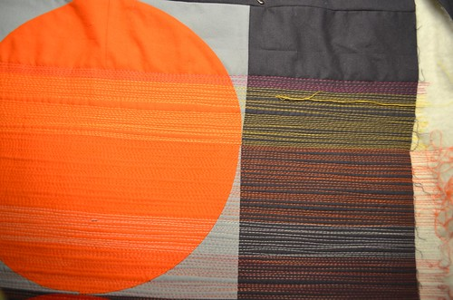 Sunset - distortion caused by changing the direction of quilting