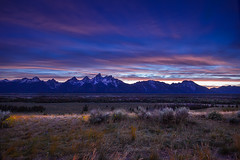 Last Light In The Teton Mountains