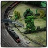 This is an actual model railway, not a tilt-shift photo.