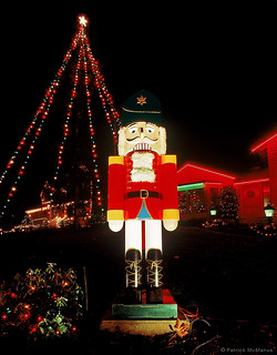 Giant Nutcracker - Christmas Lights