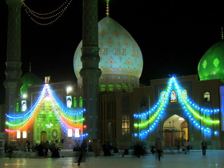 Jamkaran mosque night lights