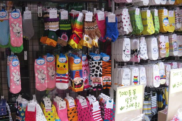 昌信洞裡的可愛襪子專賣店