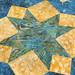 238_Navy Landscape Batik Gold Table Topper_c