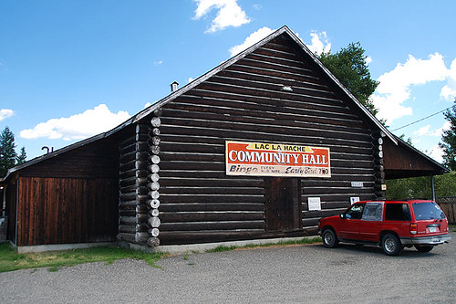 Community Hall in Lac La Hache, Highway 97, Cariboo, British Columbia, Canada