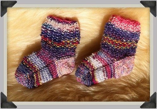 Sari Baby Socks by Beatrixknits