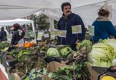 Mercado ecológico en el Paseo del Salón-