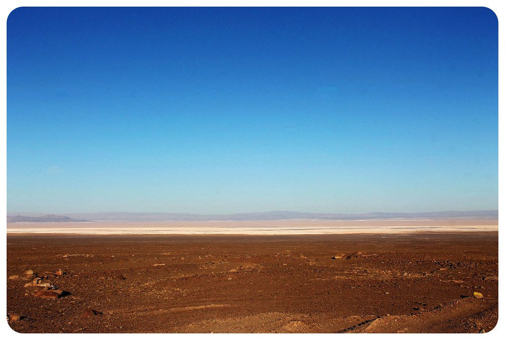 atacama desert chile with salt flats
