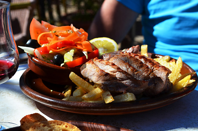 Pork steak, Casa Pana, Vilaflor, Tenerife