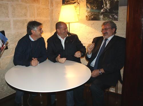 Da sinistra, Franco Mancini, Vitto, Emiliano