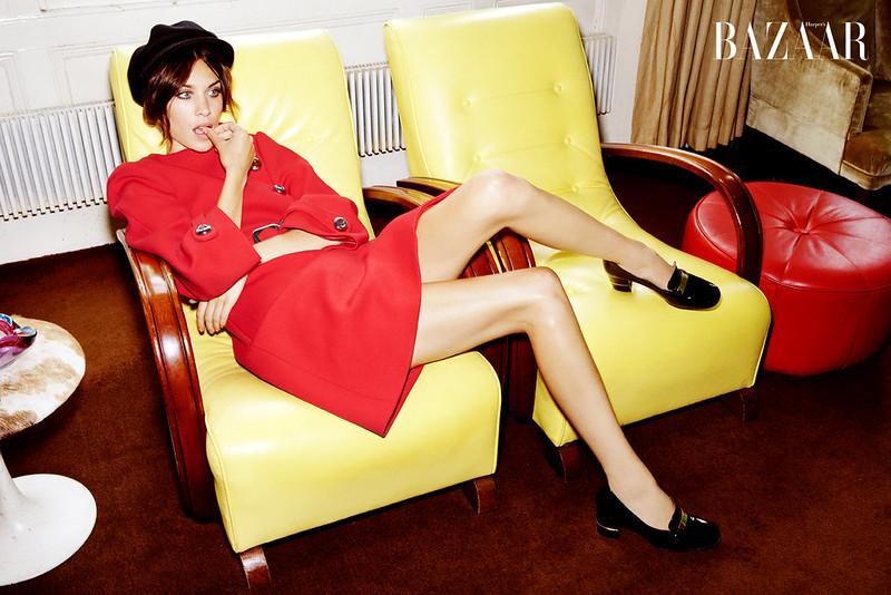 Alexa-Chung-Red-Prada-Coat