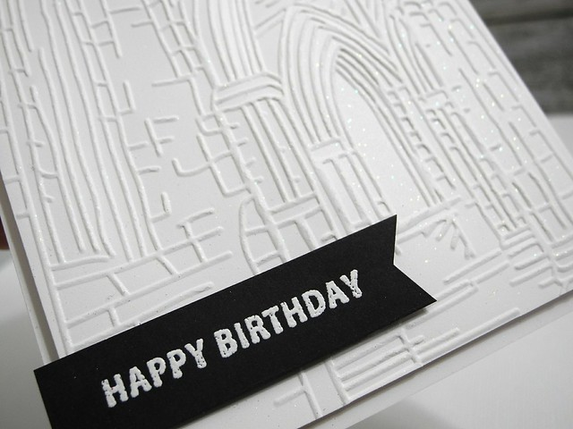 Architectural Birthday (glitter details)