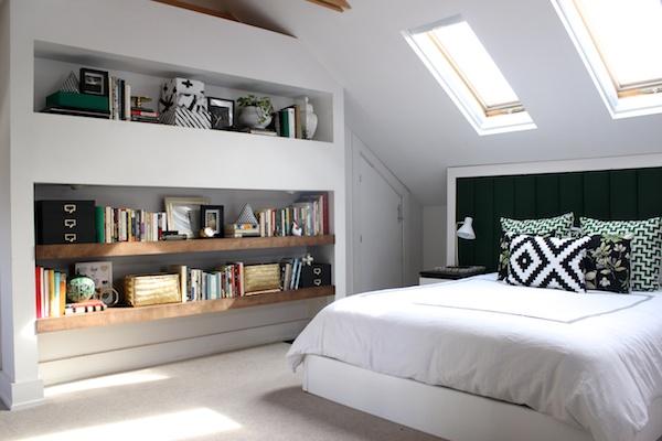 Fabric Paper Glue: Bedroom Built-Ins