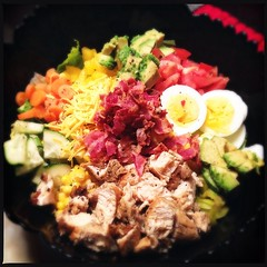Homemade Cobb Salad. One of the things I missed most while traveling was having a kitchen. #FoodPorn