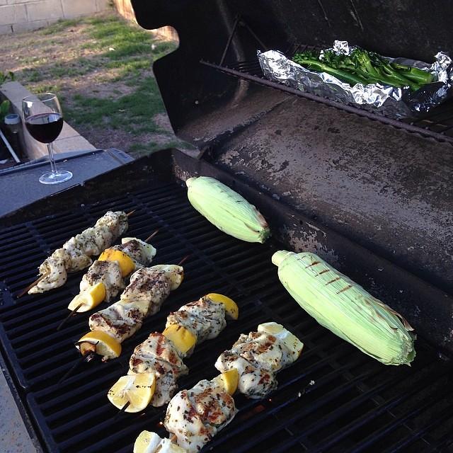 Grilled lemon chicken kebabs for dinner! | Flickr - Photo Sharing!